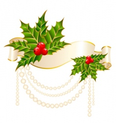 Christmas garnish vector