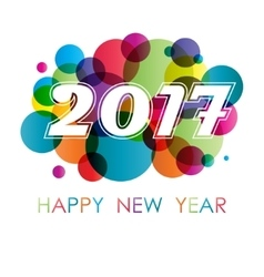 New year background with circles vector image