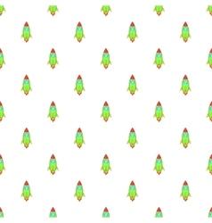 Rocket pattern cartoon style vector image