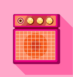 Sound speaker icon flat style vector
