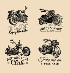 motorcycles inspirationaladvertising vector image