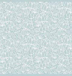 Silver grey spring flowers texture seamless vector