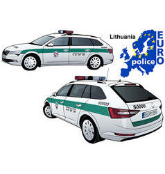 lithuania police car vector image