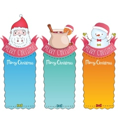 Christmas cards with santa claus vector