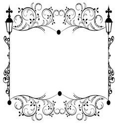 Frame flourishes vintage vector