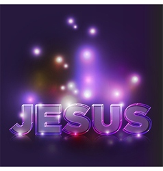 Jesus text vector