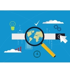 Concept of website code optimization and web vector image