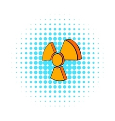 Radioactive sign icon comics style vector