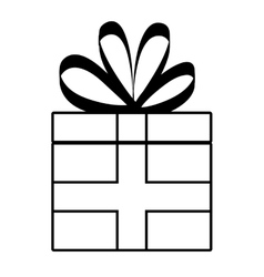 Gift icon celebration and party design vector