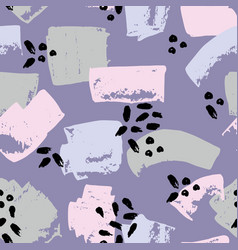 Abstract seamless pattern on a purple background vector