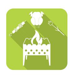 brazier zephyr kebab and chicken icon vector image vector image