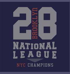 Brooklyn national league vector