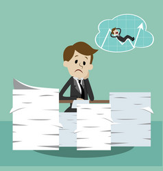 business man working and dreaming about success vector image vector image