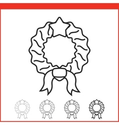 Christmas icon - wreath vector