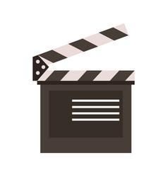 clapperboard film icon image vector image vector image