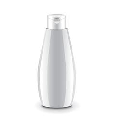 Cosmetic plastic shampoo bottle isolated vector image vector image