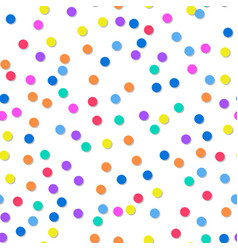 Decorative seamless pattern of confetti bright vector