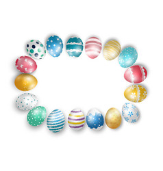 Easter eggs on isolated background vector