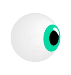 Eyeball isometric 3d icon vector image