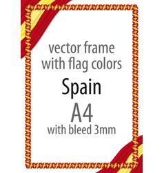 flag v12 spain vector image vector image