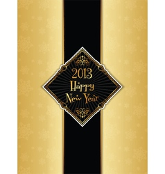 happy new year menu design vector image vector image
