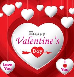 Happy Valantines Day vector image vector image