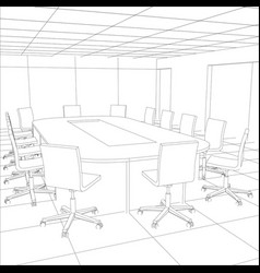 interior office meeting room tracing vector image vector image