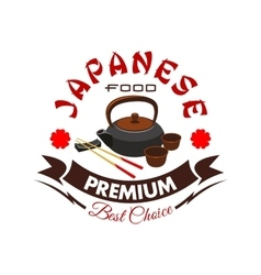 Japanese food restaurant isolated symbol vector