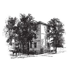 Jefferson daviss home in richmond vintage vector