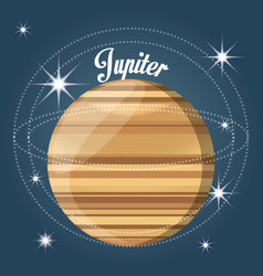 Jupiter planet in the solar system creation vector