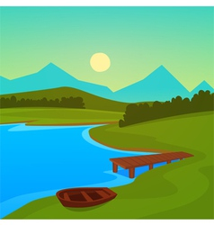 Lake Dock vector image