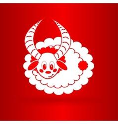 nice sheep icon vector image vector image