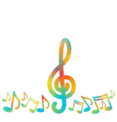 notes music concert banner colorful modern musical vector image