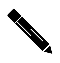 pencil icon black sign on vector image