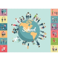 School Education in the World Concept vector image