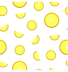 seamless lemon pattern organic herbal citrus vector image vector image