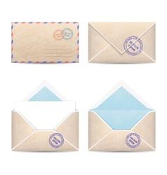 Set of vintage envelopes vector image