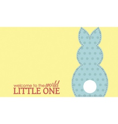 Single boy rabbit wording vector image