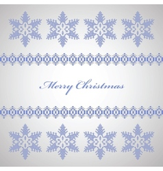Snowflakes for Christmas vector image vector image