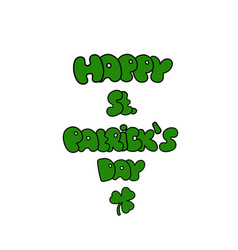St patricks day greeting saint patricks day vector