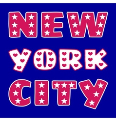 T-shirt ny city vector