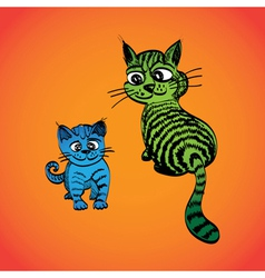 Tabby Cats vector image