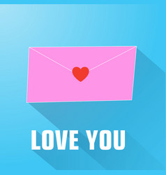 valentines day letter composition vector image