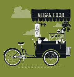 Vegan food cart vector