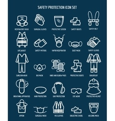 Work health and occupational safety icons vector