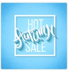 Hot autumn sale vector