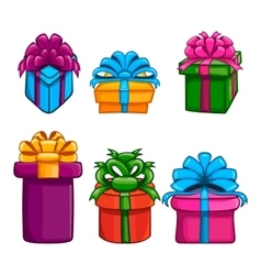 Set with gift box vector image