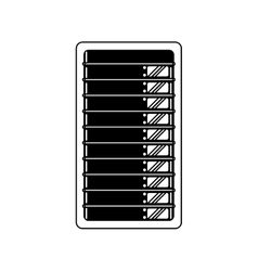 Data center server technology storage line shadow vector