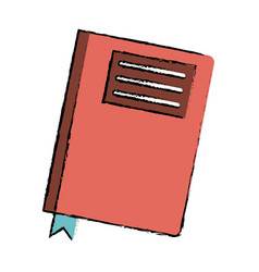 Drawing book diary directory office vector