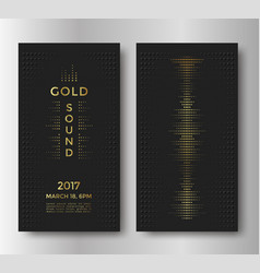 Gold sound flyer vector